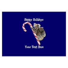 Aussie Koala Christmas Candy Ca 3.5 x 5 Flat Cards