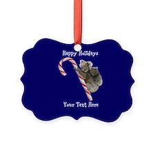 Aussie Koala Christmas Candy Cane Ornament