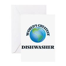 World's Greatest Dishwasher Greeting Cards