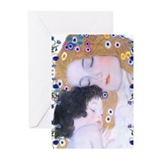 Klimt Art Deco Mother Child Greeting Cards