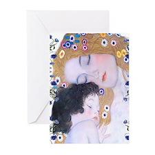 Klimt Art Deco Mother Child Greeting Cards