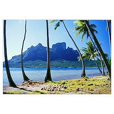 French Polynesia, Tahiti, Bora Bora Coast With Pal