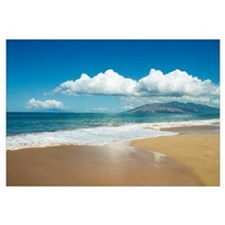 Hawaii, Maui, Kihei, Ocean And Sand, West Maui Mou