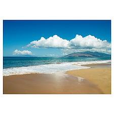 Hawaii, Maui, Kihei, Ocean And Sand, West Maui Mou