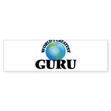 World's Greatest Guru Bumper Bumper Sticker