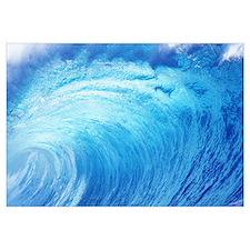 Hawaii, Oahu, North Shore, Curling Wave At World F