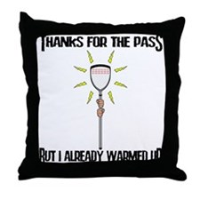 Lacrosse Goalie PAss Throw Pillow