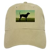 Coonhound In A Field Baseball Cap