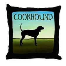 Coonhound In A Field Throw Pillow