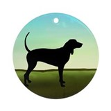 Coonhound In A Field Ornament (Round)