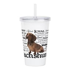 Dachshund Traits Acrylic Double-wall Tumbler