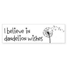 Cute Dandelion wishes Bumper Sticker