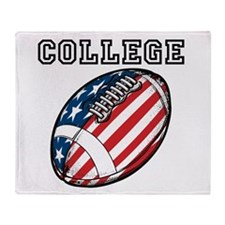 College Football Throw Blanket