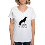 Good Dogs Women's V-Neck T-Shirt