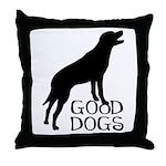 Good Dogs Throw Pillow