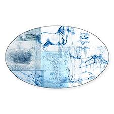 Dreams of da Vinci Blue Decal