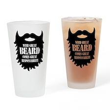 Great Beard - Great Responsability Drinking Glass