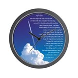 """High Flight"" 3 Wall Clock"