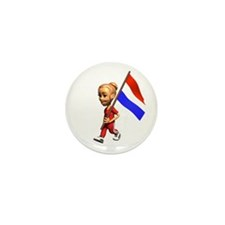Netherlands Girl Mini Button (10 pack)