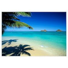 Hawaii, Oahu, Lanikai Beach With Calm Turquoise Wa