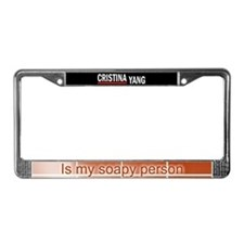 Cristina Yang Is My Soapy Pers License Plate Frame