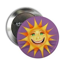 """""""Today's Weather: Happy"""" Sun Button"""