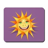 """Today's Weather: Happy"" Sun Mousepad"