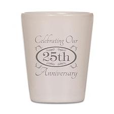 25th Wedding Anniversary Shot Glass