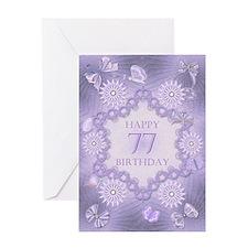 77th birthday lilac dreams Greeting Cards