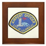 LAX Police Framed Tile