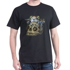 Frog On Skull With Knife T-Shirt