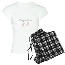 Babys Name and Baby Footprints Pajamas