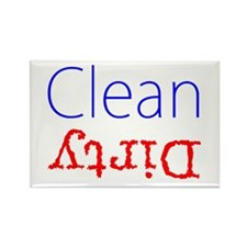 Clean Dirty Dishwasher Red Blue Magnets
