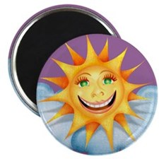 """Mostly Happy"" Sun Magnet"
