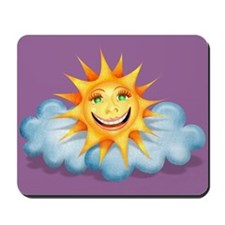 """""""Mostly Happy"""" Sun Mousepad"""