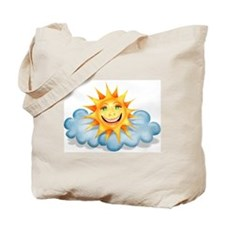 """""""Mostly Happy"""" Sun Tote Bag"""