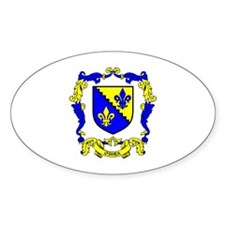 O'SHEA Coat of Arms Oval Decal