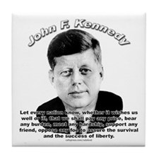John F. Kennedy 02 Tile Coaster