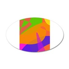 Orange Based Abstract Art Wall Decal
