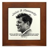John F. Kennedy 03 Framed Tile