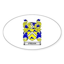 O'REGAN Coat of Arms Oval Decal