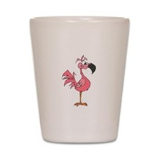 pink flamingo Shot Glass