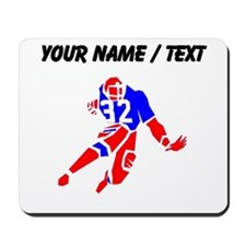 Custom Red And Blue Running Back Mousepad