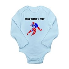 Custom Red And Blue Running Back Body Suit