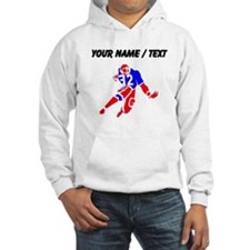 Custom Red And Blue Running Back Hoodie