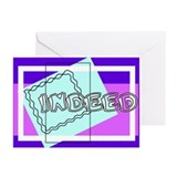"""Indeed"" Greeting Cards (Pk of 10)"