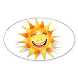 """Today's Weather: Ecstatic"" Oval Decal"