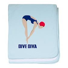 Dive Diva baby blanket