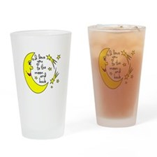 I LOVE YOU TO THE MOON AND BACK Drinking Glass