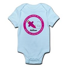 Pink Plane Big Sister Personalized Infant Bodysuit
